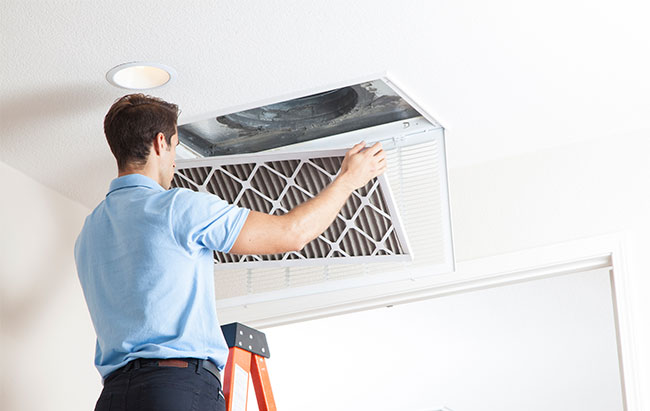 Inspection of air conditioner filters